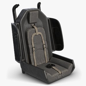 helicopter pilot seat 3D model