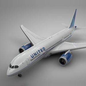 3D boeing 787 dreamliner united