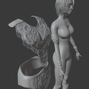 simple rigged 3D model