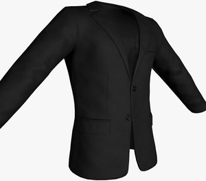 black blazer jacket 3D