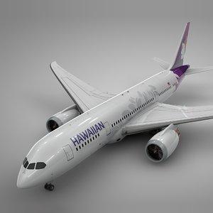 boeing 787 dreamliner hawaiian 3D