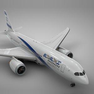 boeing 787 dreamliner el al 3D model