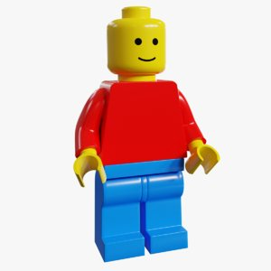 3D realistic lego minifigure rigged