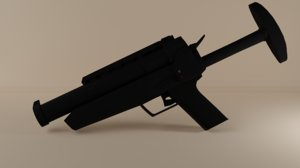 3D l104a1 baton gun grenade model