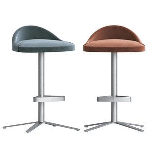 clover stool cumberland 3D model
