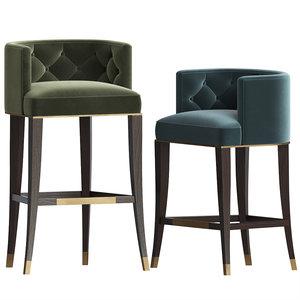 3D bourbon bar stool brabbu