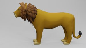 animal nature lion 3D