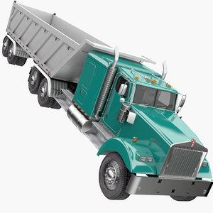 3D truck dump semi model