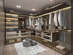 openwall wardrobe urbanwardrobes 3D model