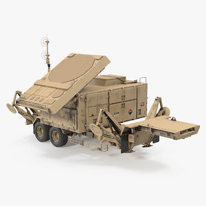 patriot mpq53 radar set 3D