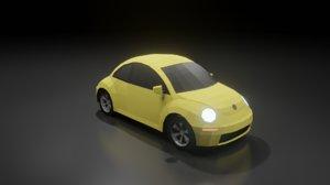volkswagen new beetle 2000 3D