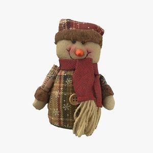 3D snowman stuffed model
