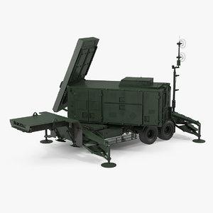 patriot radar mpq53 green 3D model