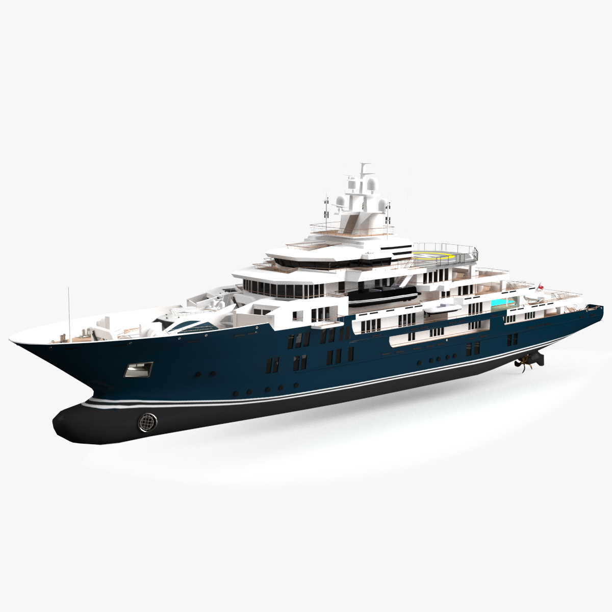 3D ulysses luxury yacht dynamic