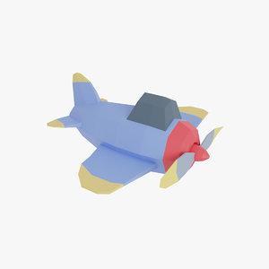 3D airplane air plan model