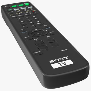 sony rm-y167 ir tv remote 3D model