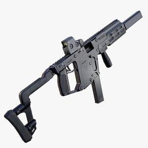 3D submachine gun smg kriss model