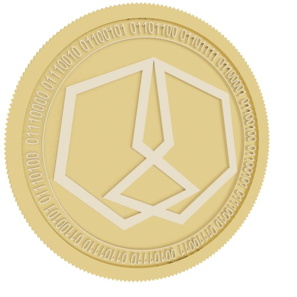 maverick chain gold coin 3D model