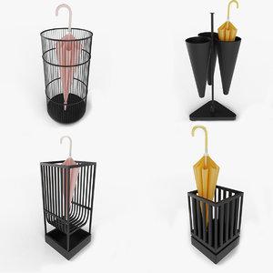 3d 3ds umbrella holder
