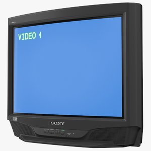 sony trinitron kv-27s46 retro 3D model
