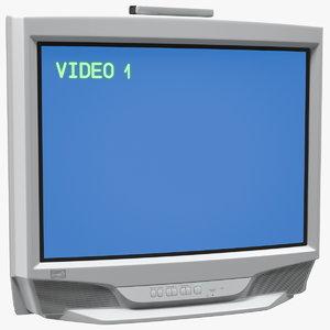 vintage 00s crt tv 3D model