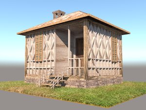 hut building shack 3D model