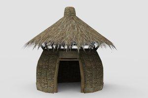 yurt tent house 3D model