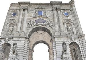 3D palace gate