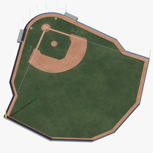 3D baseball field padded wall