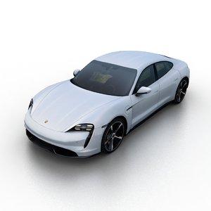 3D 2019 porsche taycan model