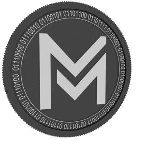 3D mgc token black coin model