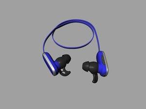 3D bluetooth headset model