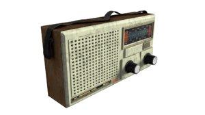 old radio 3D