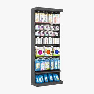3D model slatwall display stand