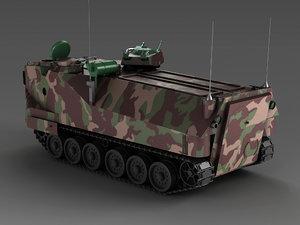 american aav-7 amphibious vehicle 3D model