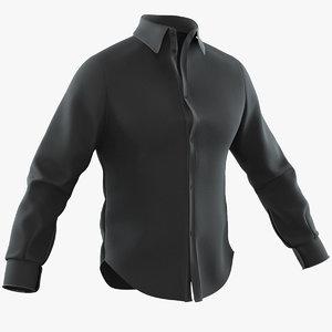 3D shirt black model