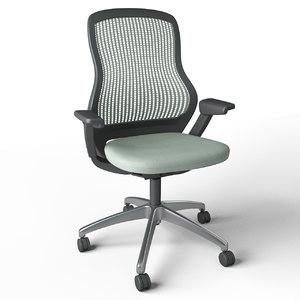 regeneration armchair knoll seat 3D model