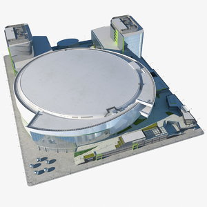 3D stadium arena parking model