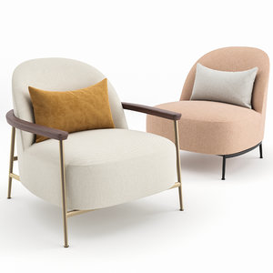 sejour lounge chair gubi 3D