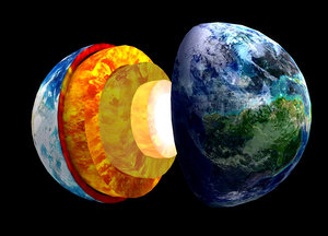 3D crust mantle earth profile model