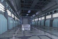 Space stations passages  sci-fi scenarios space corridors  labs
