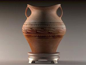 clay pots varnishes stone model