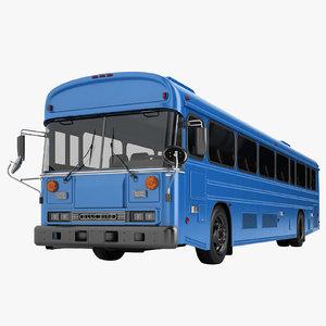 bus 2000 blue 3D model