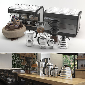 coffee brewing equipment 3D model
