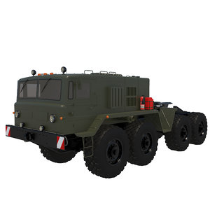 3D model military vehicle maz-537g