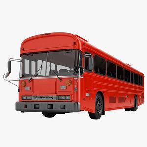 3D model bus 2000 blue