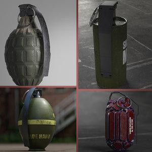 hand grenades 3D