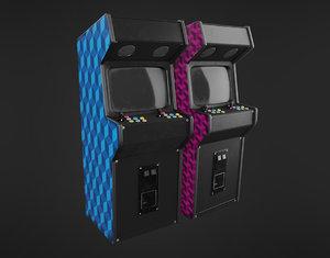 3D arcade machine model