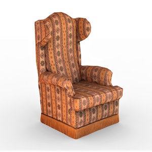 3D old armchair