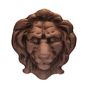 lion head relief 3D